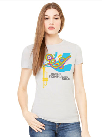 """Hang tight & Give Soul"" Lightweight Women's Tee"