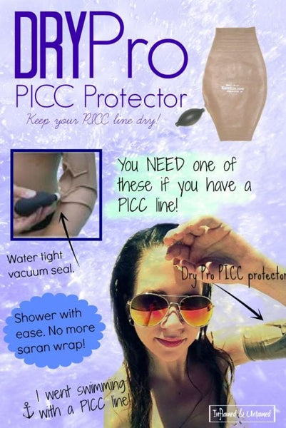 DryPro PICC Protector Review: This Will Change Your Life if You Have A PICC Line!