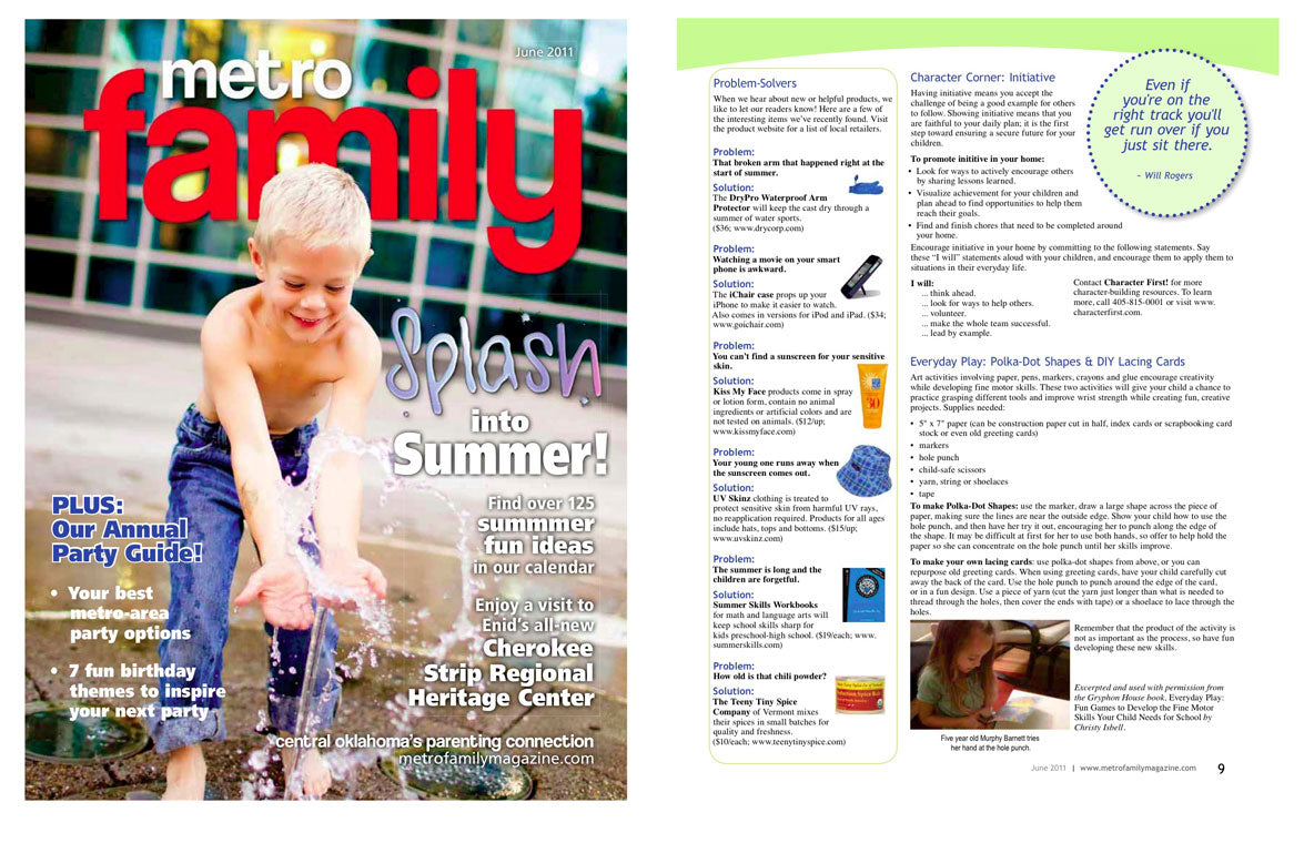 DryPRO product reviews in Metro Family Magazine