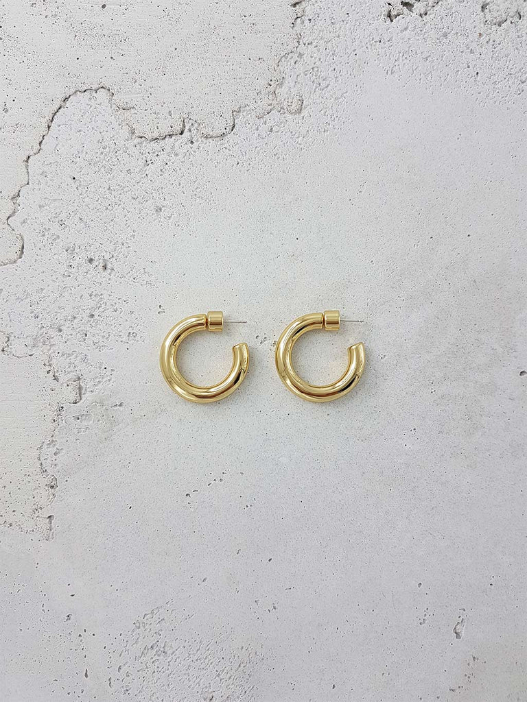 ROMANIN ANTONIO HOOPS 18k GOLD SOLID BRASS JEWLEY JEWELLERY
