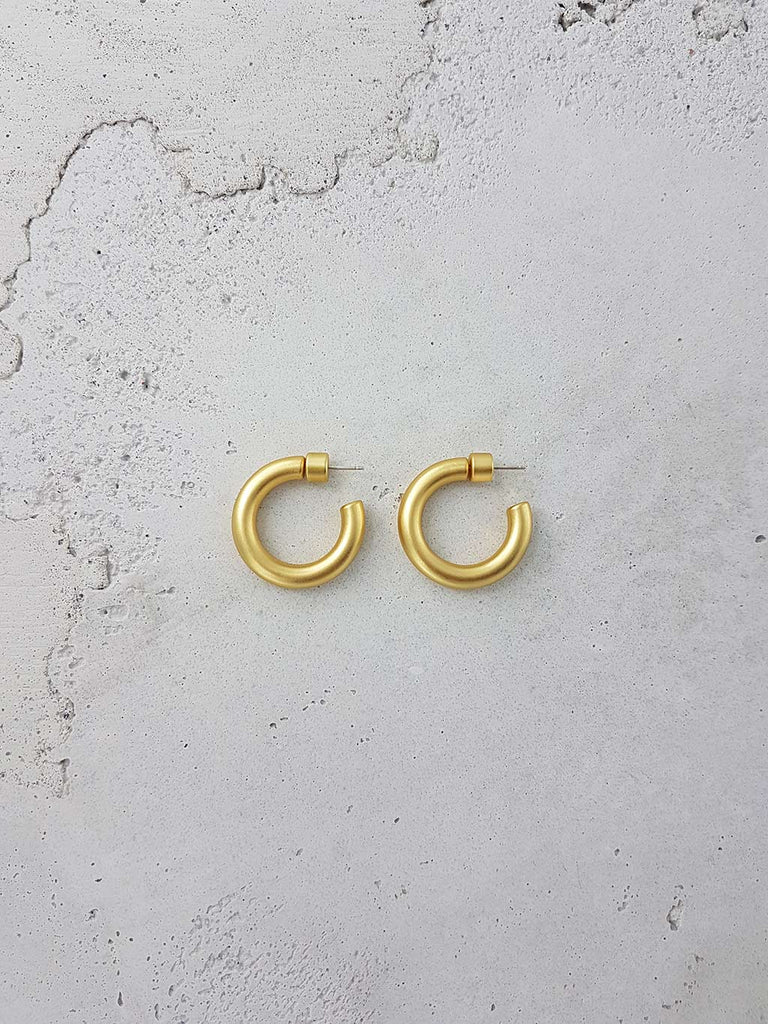 ROMANIN ANTONIO HOOPS ANTIQUE GOLD SOLID BRASS JEWELRY JEWELLERY