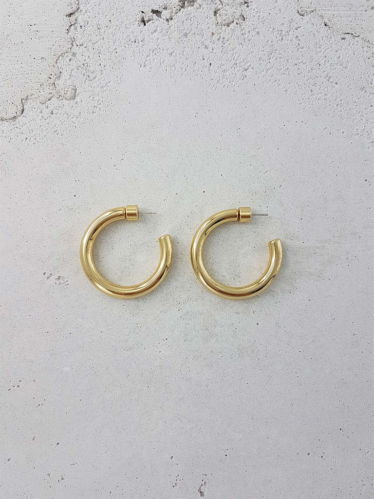 ROMANIN LUISA HOOPS 18k GOLD SOLID BRASS SILVER JEWELRY JEWELLERY