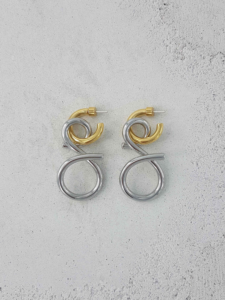 VENEZIA EARRINGS 2 TONE