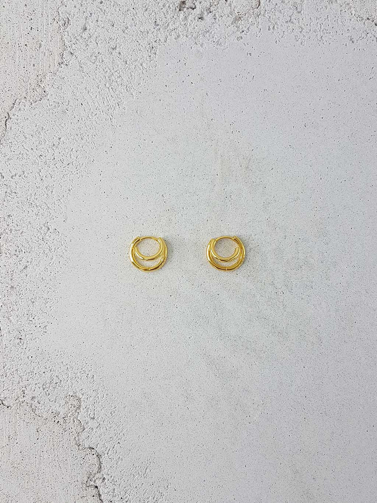 SURF HOOPS 18K GOLD