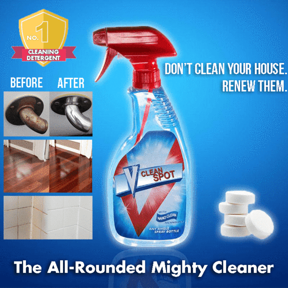 [90% OFF Today & Free  Shipping] - 【Buy 2 get 2 FREE🔥】-Multifunctional Mighty Cleaning Bottle