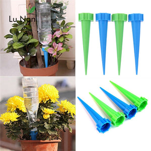 👉Buy 3 Get 1 Free👉4Pcs/lot Indoor Automatic Watering Irrigation Kits System Houseplant Spikes For Plant Potted Flower Energy Saving Environmental