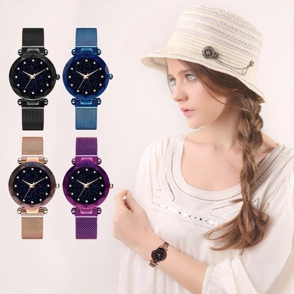 【70% OFF Only Today🔥】Luxury Starry Sky Quartz Watch With Magnetic Watchband/Waterproof【Buy 2 get 1 Different Color FREE】