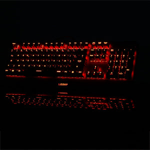 Game Keyboard 1 Color Backlight LED USB Wired Gaming Mechanical Keyboard