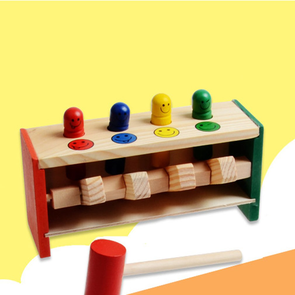 Wooden Toys Enlightenment Percussion Toy Wooden Beat Trapeze Educational Toys