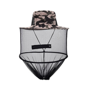 Mosquito Net Cap Midge Fly Bug Insect Bee Hat Head Face Mask Neck Protection Fishing Hat Outdoor Jungle Camping Hiking Hunting