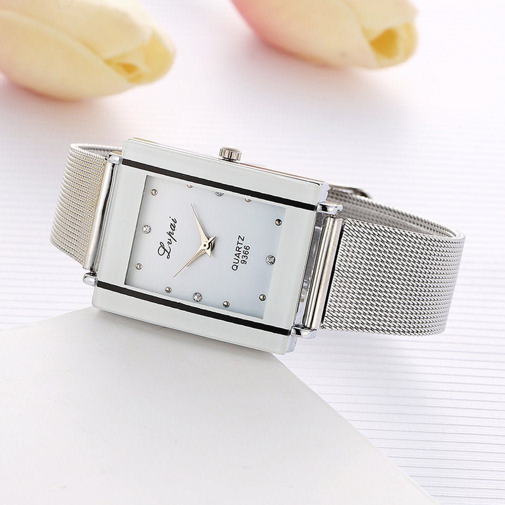 Lvpai Brand Silver Ladies Watch Luxury Rectangle Casual Watches