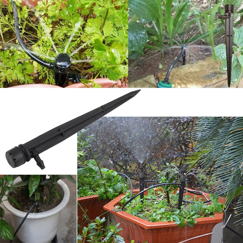 50pcs/bag HF618A Professional Bubbler Drip Irrigation Adjustable Emitters Stake Water Dripper Suitable For Garden Irrigate