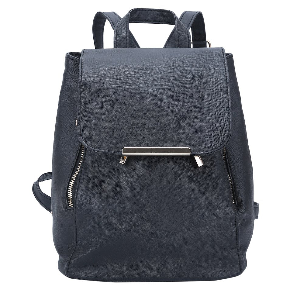 Korean Womens Girls PU Leather Shoulder School Bags Backpack Handbags Black