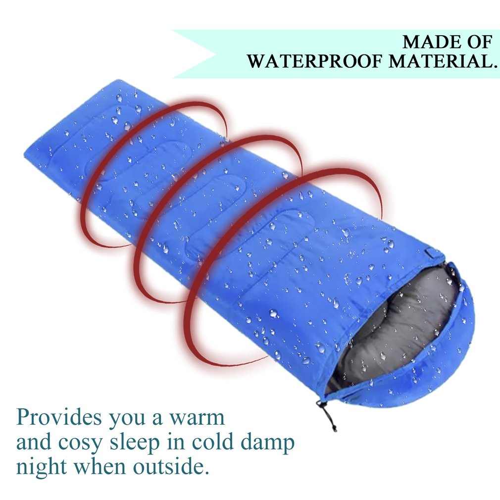 Comfortable Large Single Sleeping Bag Warm Soft Adult Camping Hiking Lazy Bag