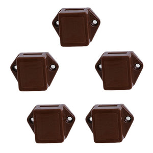5pcs Door Push Lock Button Cupboard Door Knob Cabinet Drawer Push Latch