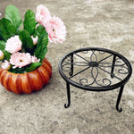 European Style Flower Pot Rack Metal Design Bonsai Potted Plant Stand Shelf