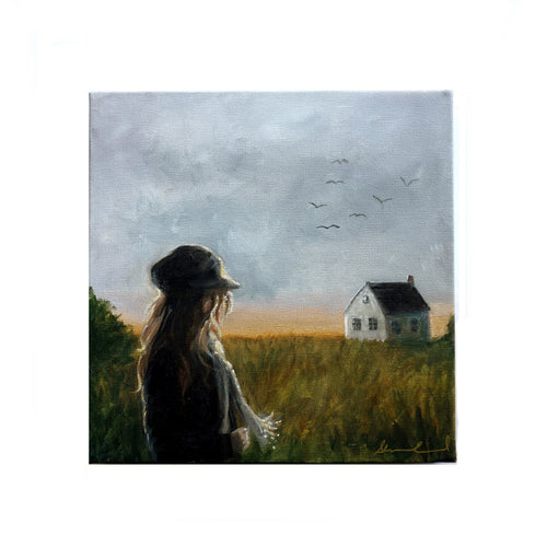 'Home Horizons' - 12x12 Oil and Acrylic