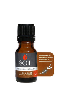 Organic Tea Tree Essential Oil (Melaleuca Alternifolia) 10ml