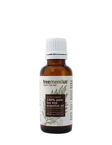 Organic Tea Tree Essential Oil (Melaleuca Alternifolia) 25ml