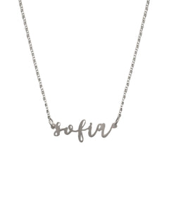 Season's - horizontal name necklace