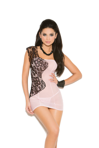 BABYDOLL W/LACE OVERLAY