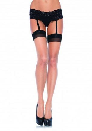 2 Tone Stockings - Queen Size - Nude- Black