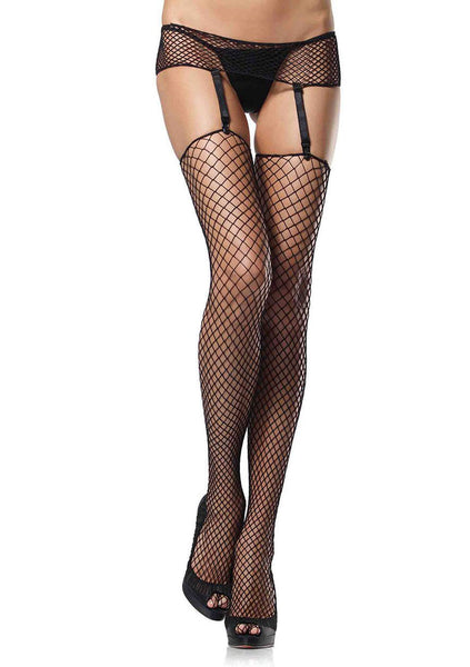 Industrial Net Garterbelt and Stocking Set