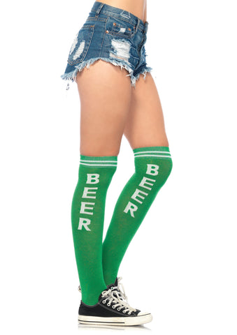 Beer Time Athletic Knee High Socks - One Size