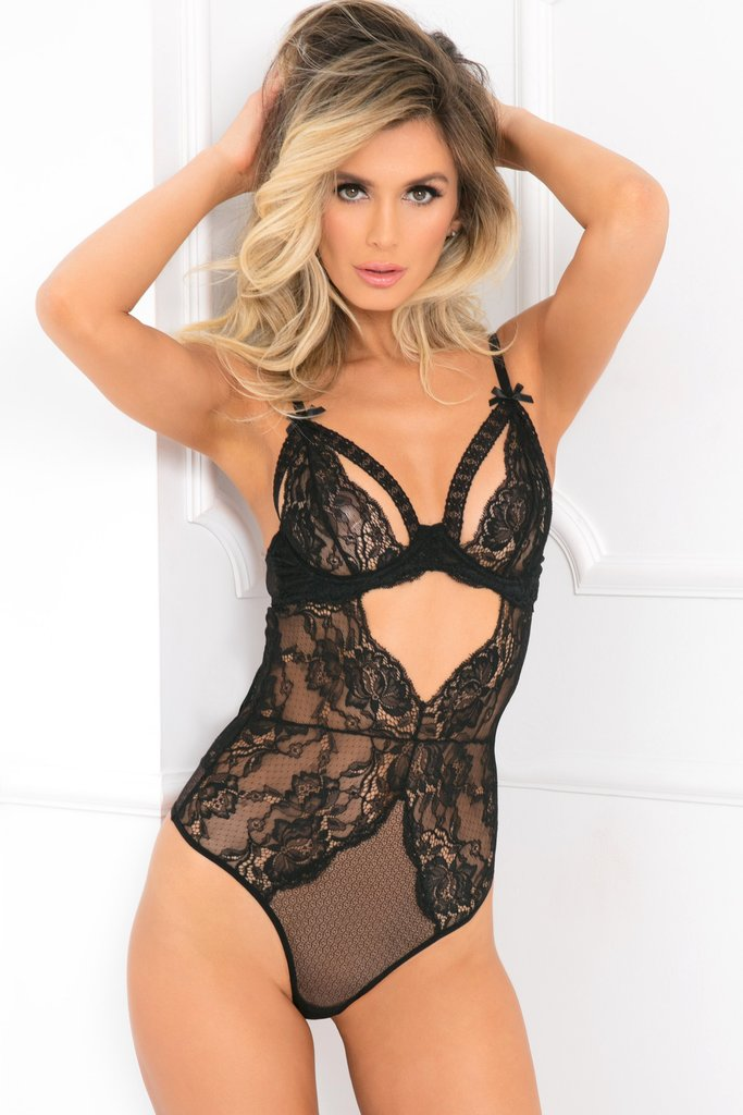 All Eyes on Me Lace Bodysuit