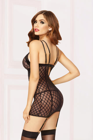 Chemise With Garter & Thong