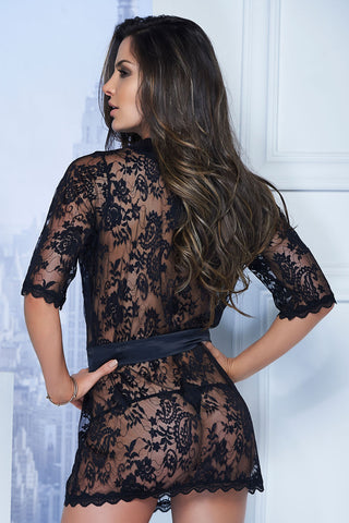 Short lace robe &  G-String