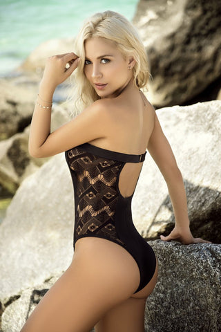 One Piece Swimsuit with Netting Sides