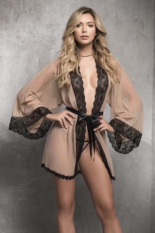 Robe with Matching G-String Lingerie Set