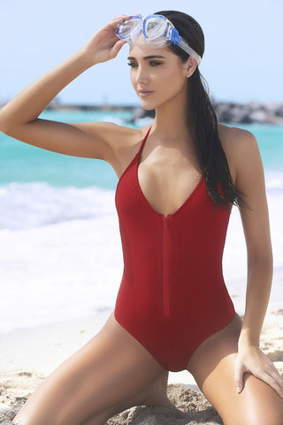 Zipperdown Swimsuit