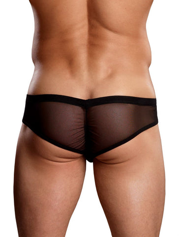Euro Male Mesh Shirred Pouch Manty Briefs