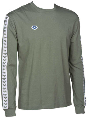 Heren Long Sleeve Shirt Team army-white-army | Zwemmershop