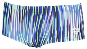 Arena M Speed Stripes Low Waist Short black-multi-green (5373803561123)