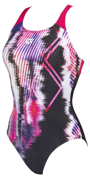 Arena W Infinite Stripe Swim Pro Back One Piece black-rose (5373849501859)
