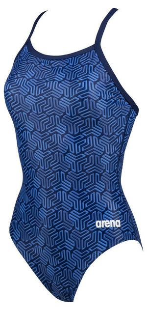 Arena W Kikko Light Drop Back One Piece navy-multi