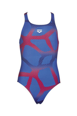 G Spider Junior One Piece Royal - Rood | Zwemmershop