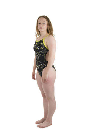 W Water Lightech One Piece L black-soft-green | Zwemmershop