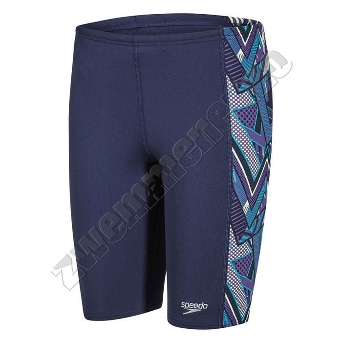 Speedo Electric Camo Jammer Navy/ purple/ jade