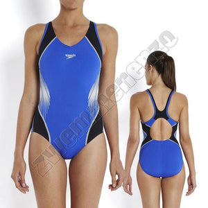 Speedo Fit Splice Black/ deep peri/ white zwemmenenzo.nl