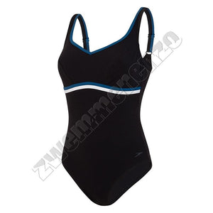 Speedosculpture Contourluxe 1 Piece black-blue-white zwemmenenzo.nl