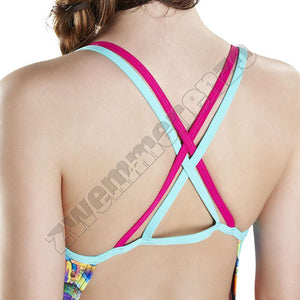 Speedo Glow Ball Double Crossback pink/ spearmint/ blue zwemmenenzo.nl