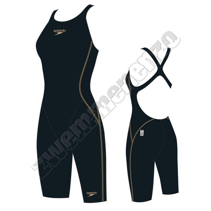 Speedo Fastskin Junior LZR Racer X Openback Kneeskin Black/ gold