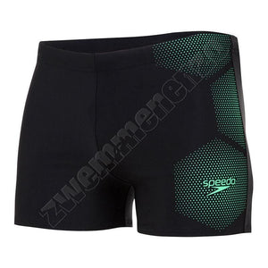 Speedo Tech Placement Aquashort black/green zwemmenenzo.nl