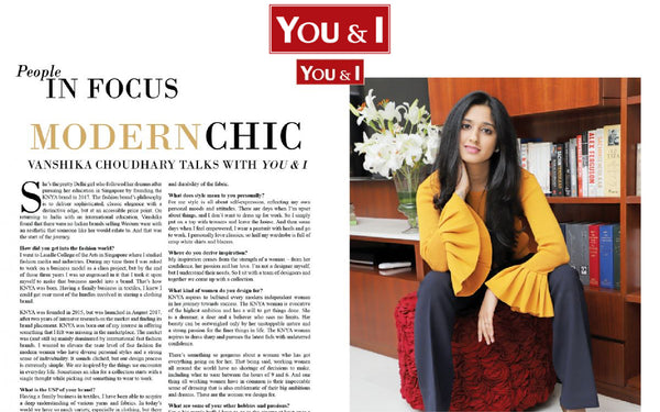 Modern Chic - Vanshika Choudhary talks with you & I