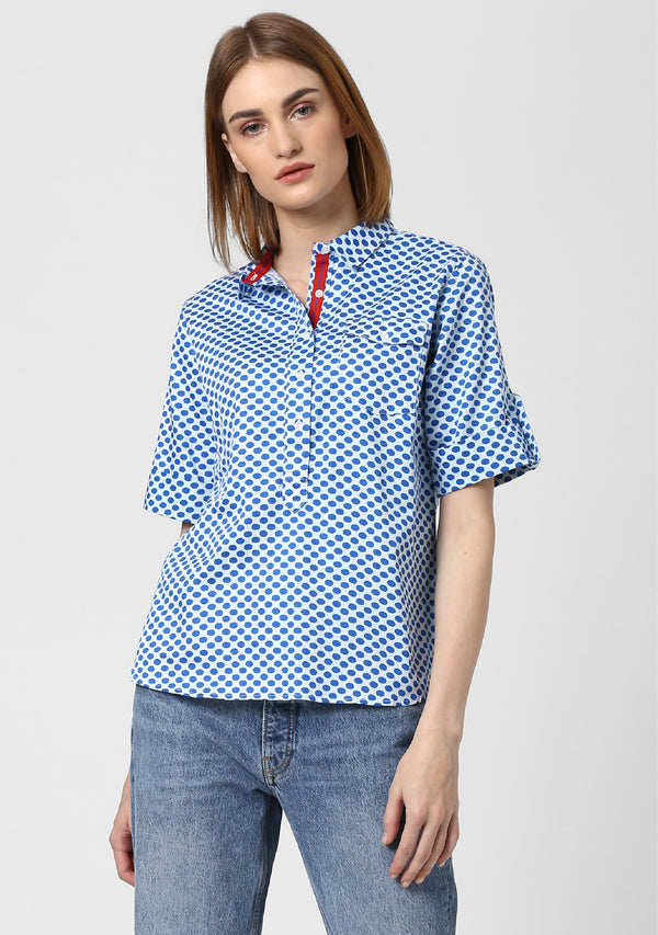 Pop Over Polka Shirt