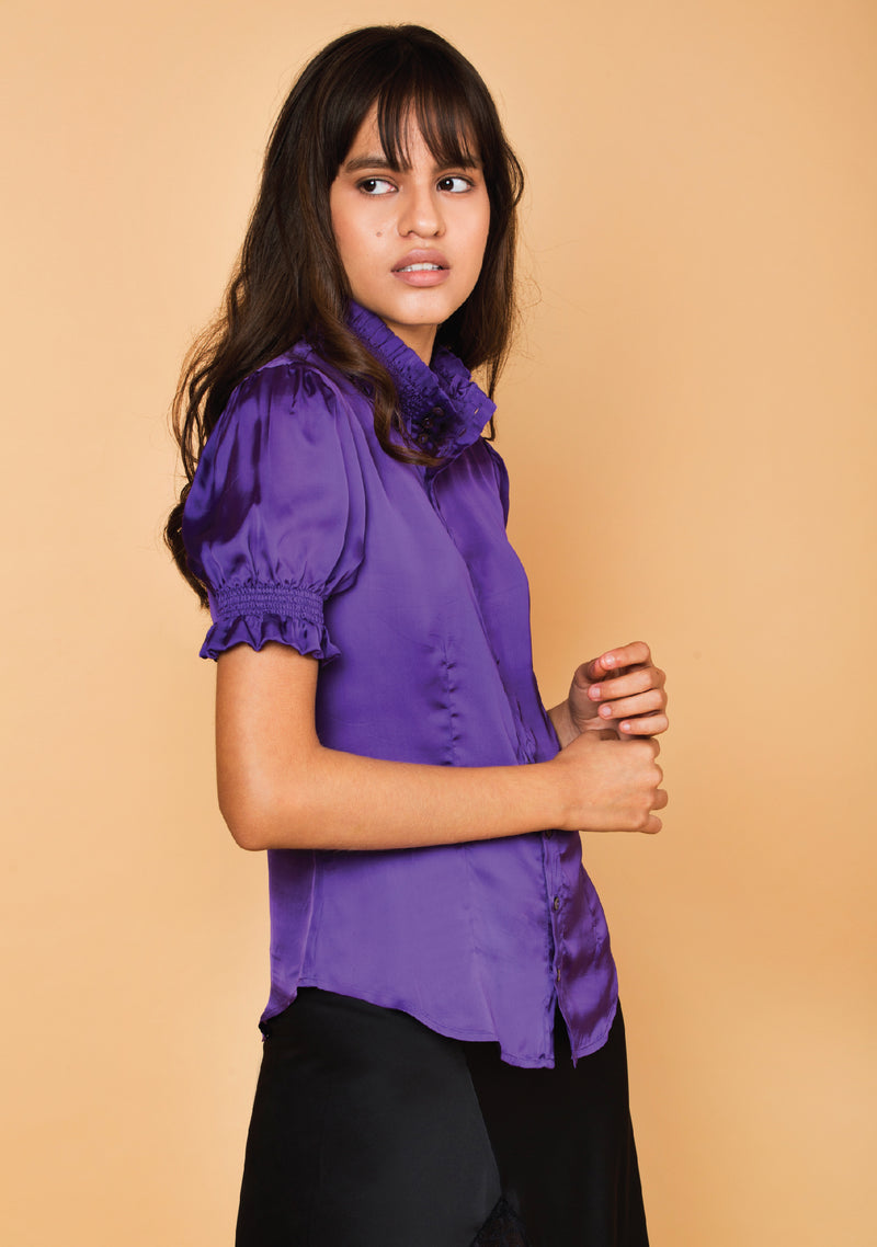 Ultra Violet Ruched Shirt